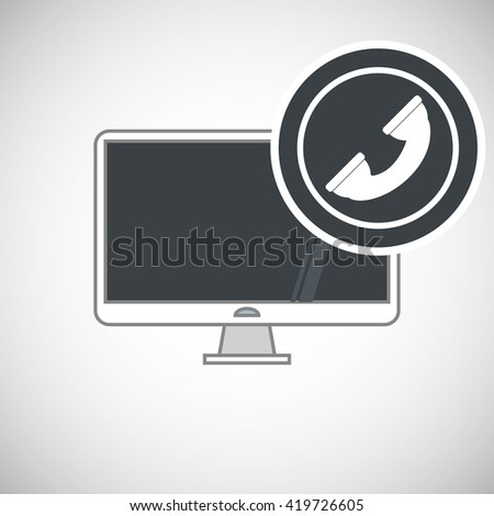 Call center design. Customer service icon. Flat illustration