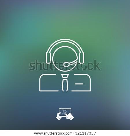 Call center icon - stock vector