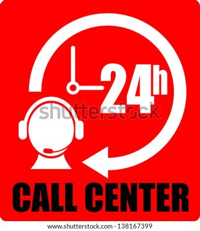 Call Center, icon center - stock vector