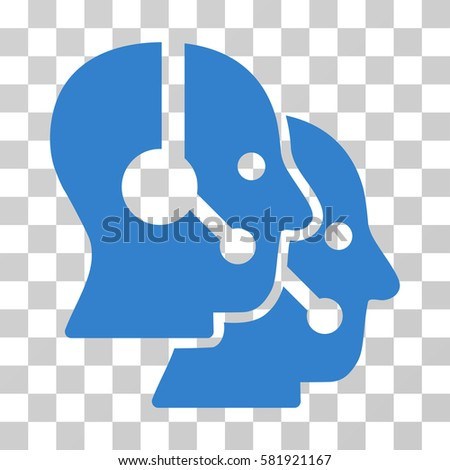 Call Center Operators Vector Icon Illustration Stock Vector