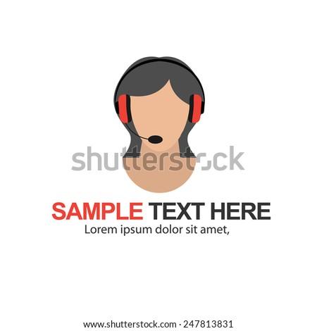 Call Centre Operator Icon - stock vector