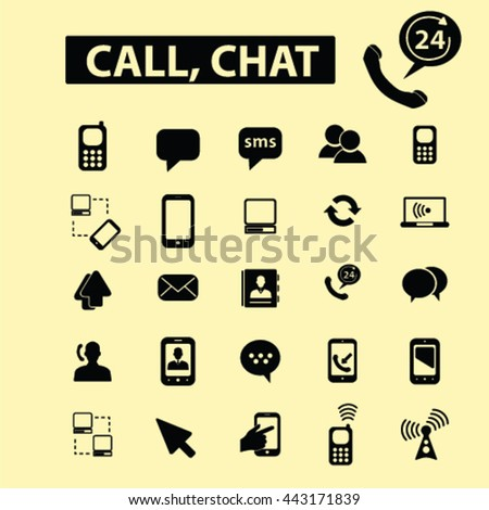 call chat icons