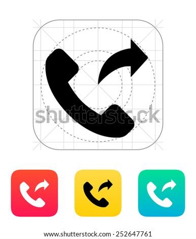 Call forwarding icon. Vector illustration. - stock vector