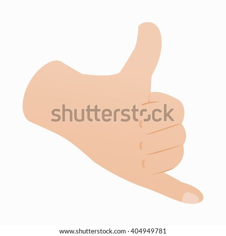 Call me gesture icon, isometric 3d style - stock vector