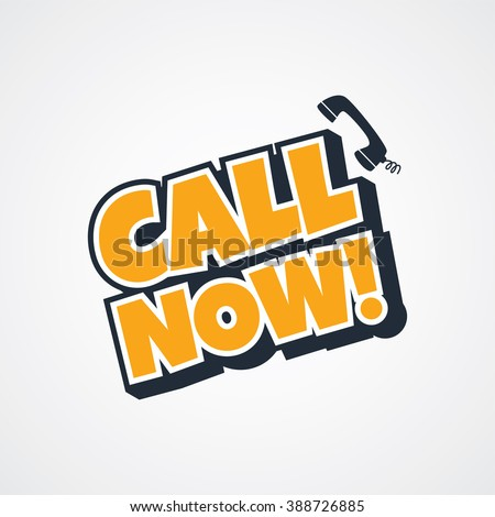 call now - stock vector