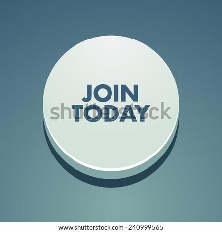 Call to action button - stock vector