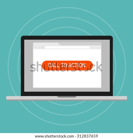 call to action landing page optimization effective layout traffics - stock vector