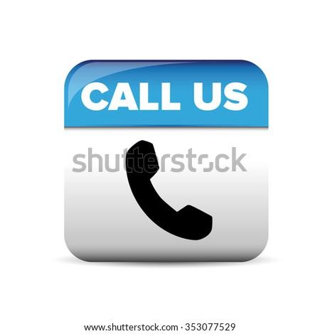 Call us button vector - stock vector