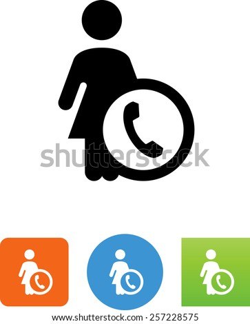 Call us symbol for download. Vector icons for video, mobile apps, Web sites and print projects. - stock vector