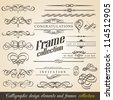 Calligraphic Design Elements and Frames. Vintage Collection. Vector. - stock photo