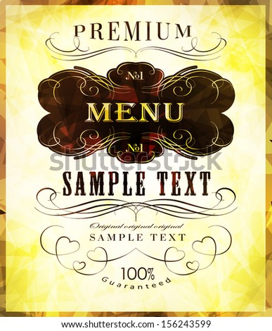 calligraphic design elements and labels/ vector illustration