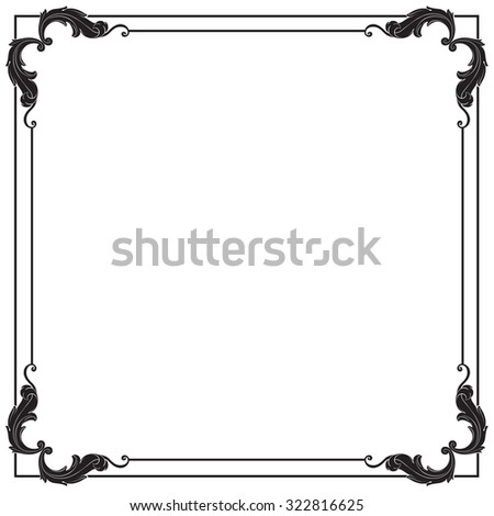 Calligraphic design elements: page decoration, Premium Quality and Satisfaction Guarantee Label, antique and baroque frames. Black and wight graphic style.  Bohemian - stock vector