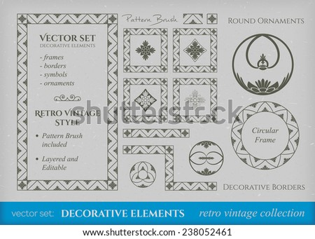 Calligraphic design elements. Vector set of page decorations - stock vector