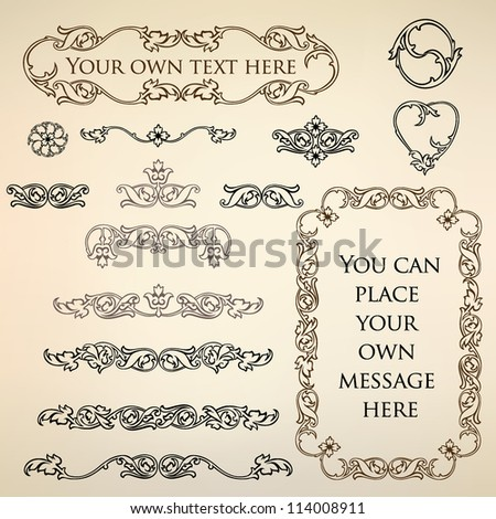 Calligraphic retro elements and page decoration. Vintage Vector Design Ornaments - stock vector
