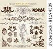 calligraphic set - stock