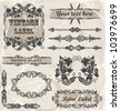 Calligraphic vintage elements - stock vector