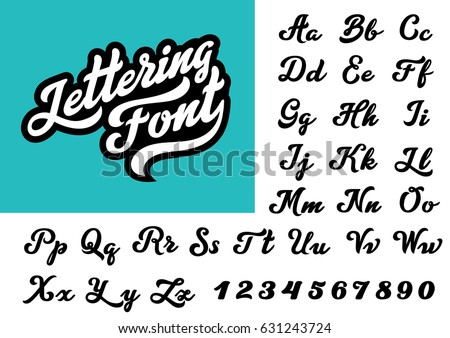 Calligraphic Vintage Handwritten Vector Font For Lettering Trendy Retro Calligraphy Script