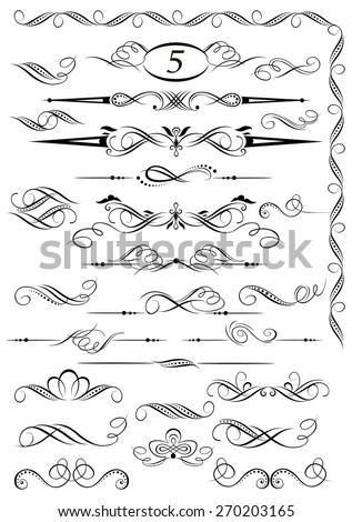 Calligraphic vintage page decoration design - stock vector