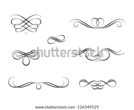 Calligraphy Design Elements - stock vector