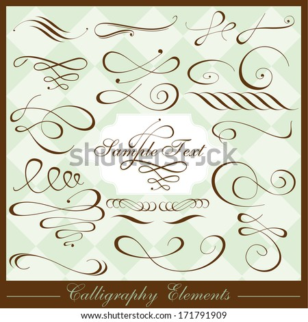 Calligraphy Elements - stock vector