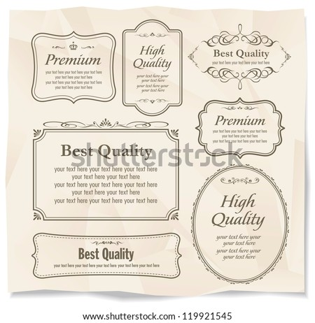 calligraphy on retro paper - stock vector
