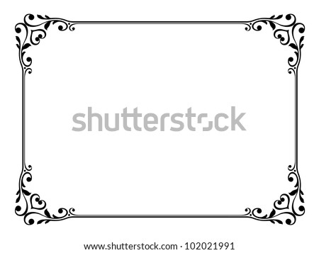 calligraphy ornamental decorative frame - stock vector