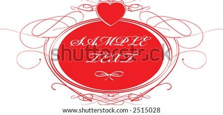 calligraphy valentine - stock vector