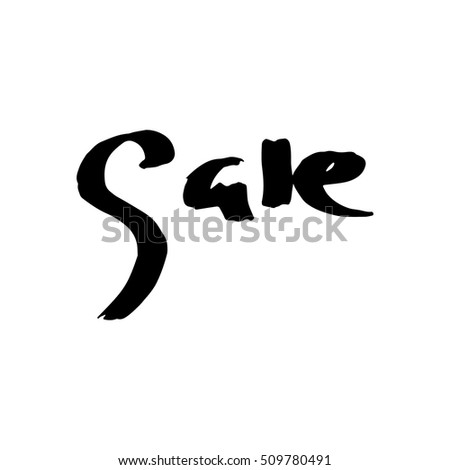 "calligraphy vector ""sale"" of hand made doodle illustration"