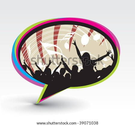 callout in concert music - stock vector