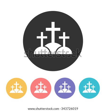 calvary (Golgotha) icon. vector illustration