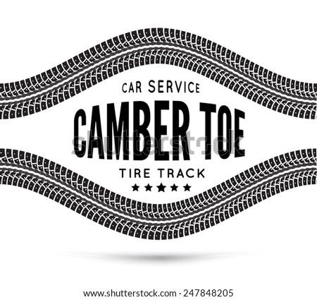 Camber and toe-car service - stock vector