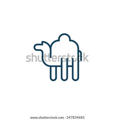 Camel Icon Symbol Zoo Set - stock vector