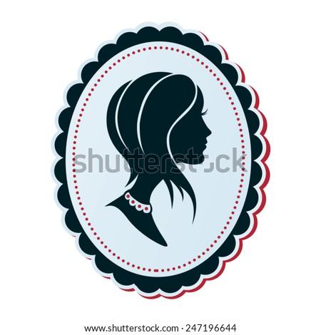 Cameo Vector Silhouette Profile Trendy Woman Stock Vector 247196644 ...