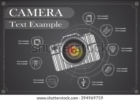 camera and Video icons ,Illustration eps 10 - stock vector