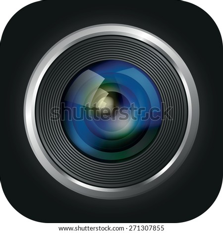 camera apps icon - stock vector