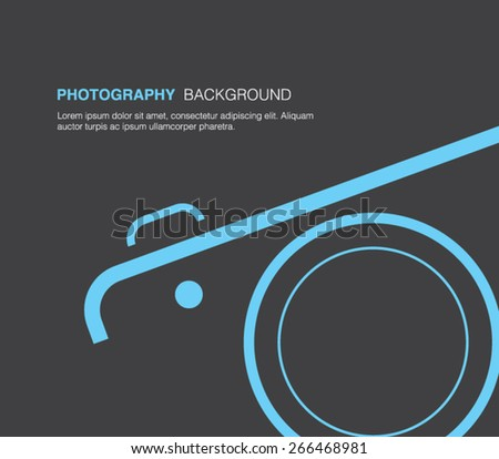 Camera background for business design, technology presentation, multimedia, photography, photo, photographer. Clean and modern style design