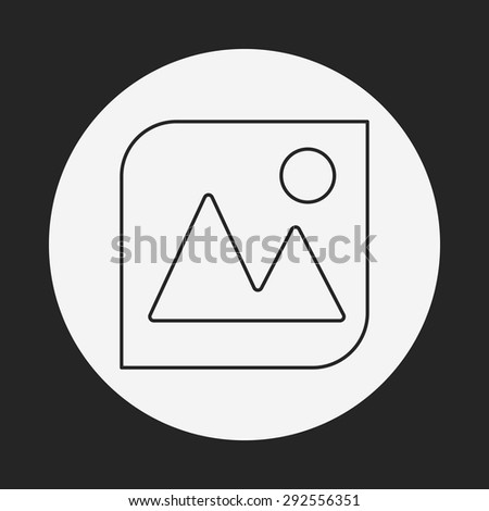 camera depth of field line icon - stock vector
