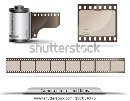 Film roll stock images royalty free images vectors for Camera film logo
