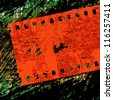 camera film silhouette on grunge background, vector illustration - stock vector