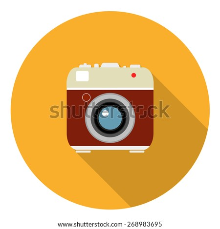 camera flat icon. vector illustration - stock vector