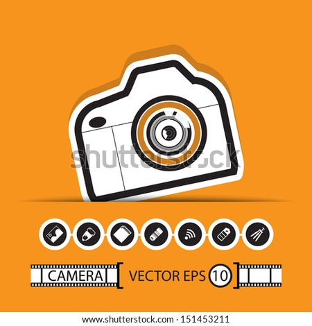 camera gadget set ,Illustration eps 10 - stock vector