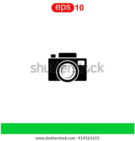 Camera icon. Camera icon vector. Camera icon illustration. Camera icon web. Camera icon Eps10. Camera icon image. Camera icon logo. Camera icon sign. Camera icon art. Camera icon flat. - stock vector