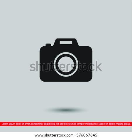 Camera  icon, camera  vector icon, camera  icon illustration, ca - stock vector