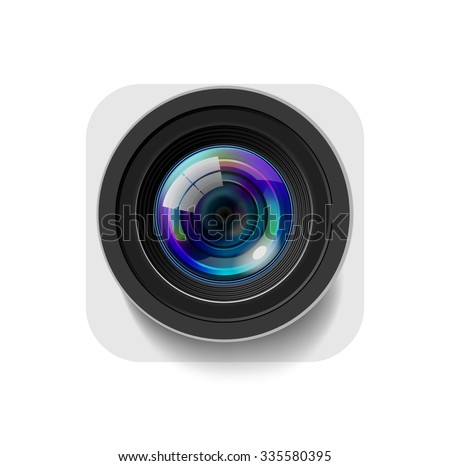 Camera Icon Isolated on White - stock vector