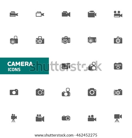 Camera Icon set for web and mobile vector illustration