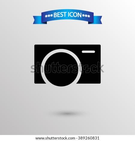 Camera  icon vector eps 10 icon, Camera vector icon for web i mobile,  Camera vector icon on gray background - stock vector