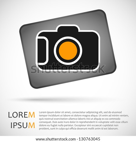 Camera icon. Vector illustration. - stock vector