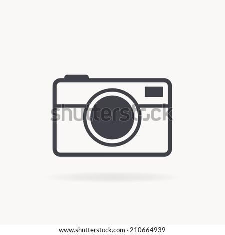 camera icon , vector illustration - stock vector