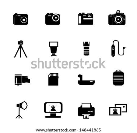 Camera icons - stock vector