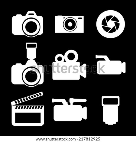 Camera Icons Set - stock vector
